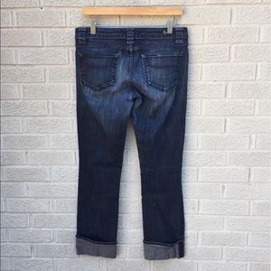 Paige Denim Crop Cuffed Blue Heights Jeans